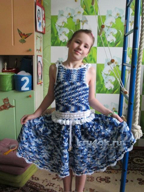 Вязаное крючком платье - работа Ларисы