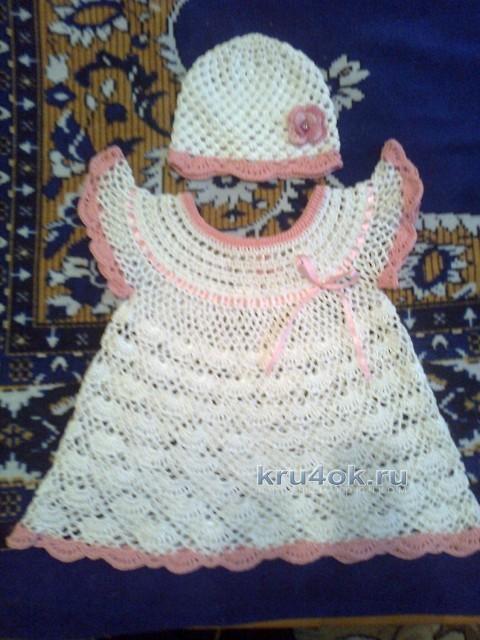 Детское платье и шапочка - работы Олеси