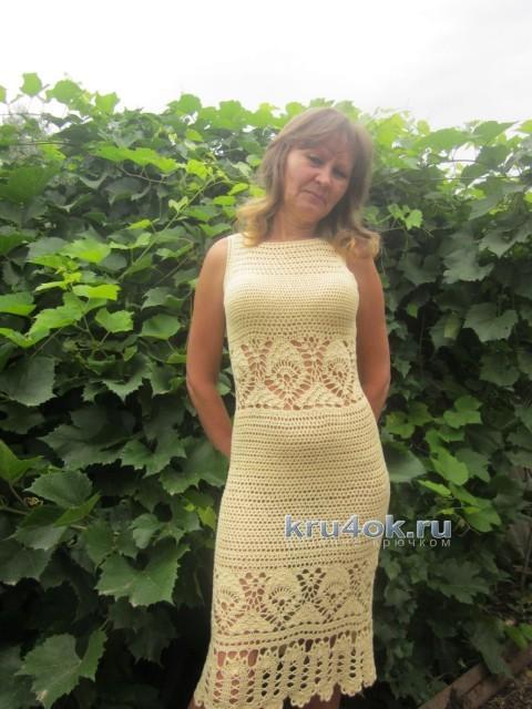 Вязаное крючком платье - работа Наили