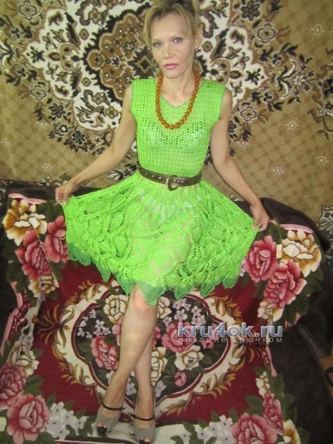 Вязаное крючком платье - работа Татьяны