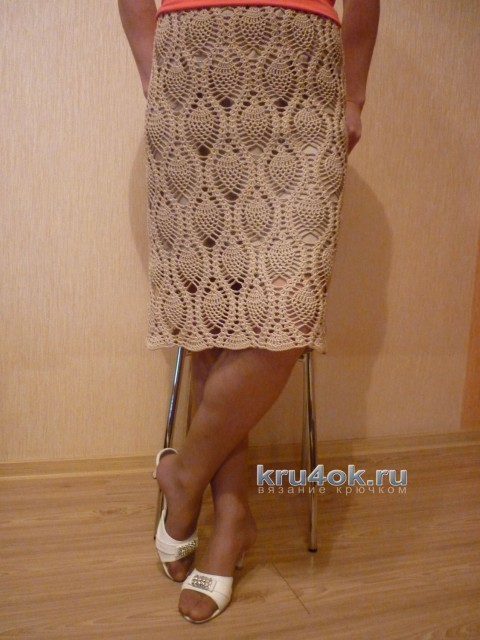 Вязаная крючком юбка - работа Татьяны