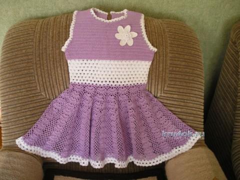 Вязаное крючком платье - работа Лидии