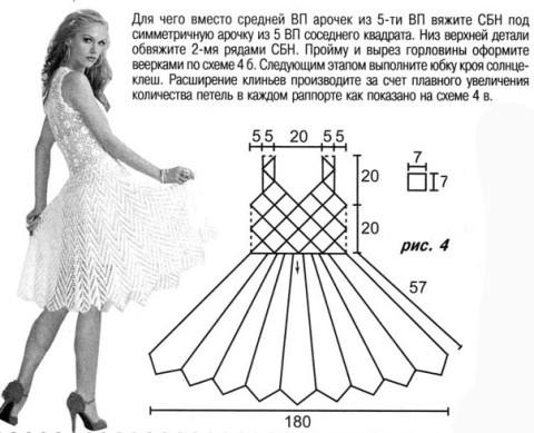 схема вязания сарфана