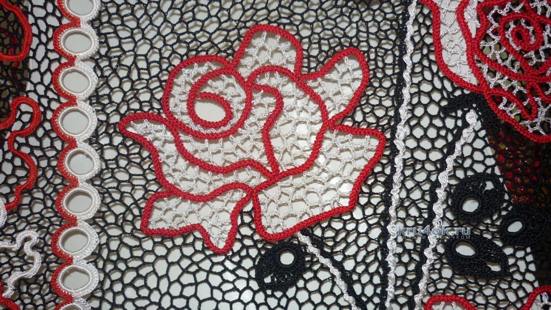 Вязание шнурковых роз