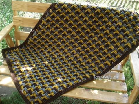 Вязаный крючком коврик - работа Марины