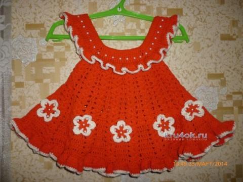 Платье крючком - работа susu