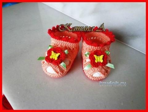 Летние пинетки сандалики - работы Аннушки Катиной