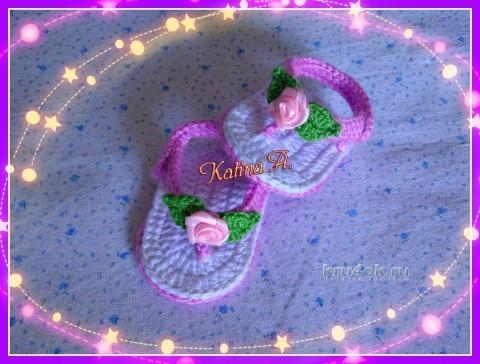 Вязание пинетки кеды до 1 года