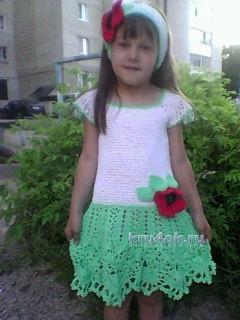 Платье с маками - работа Ольги