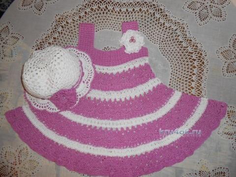 Платье и шляпка крючком - работы Татьяны Султановой