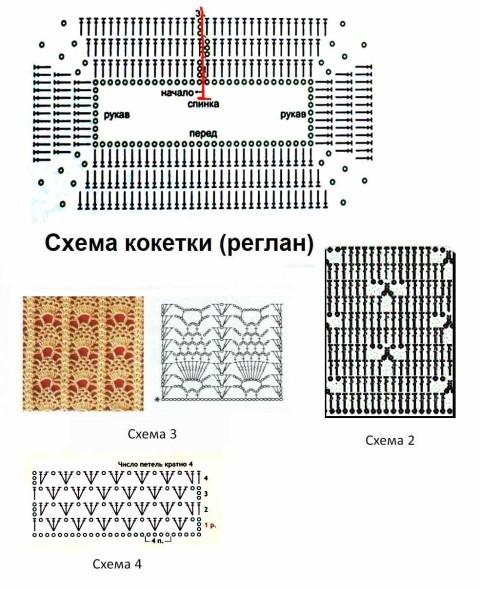 Схемы для вязания кофточки