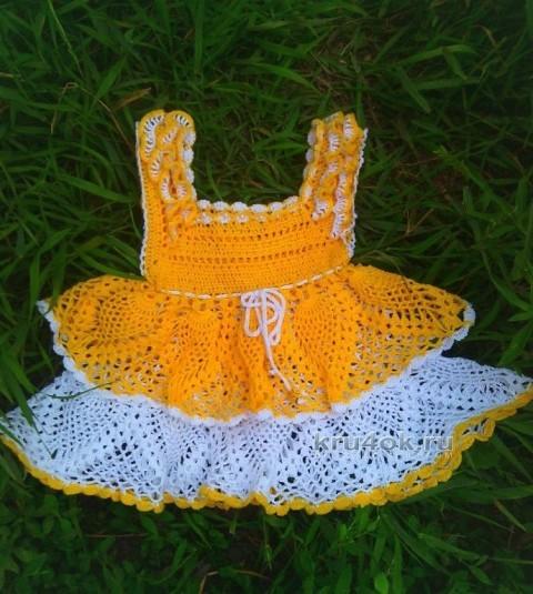 Вязаные детские платья - работы Анастасии Оринтас
