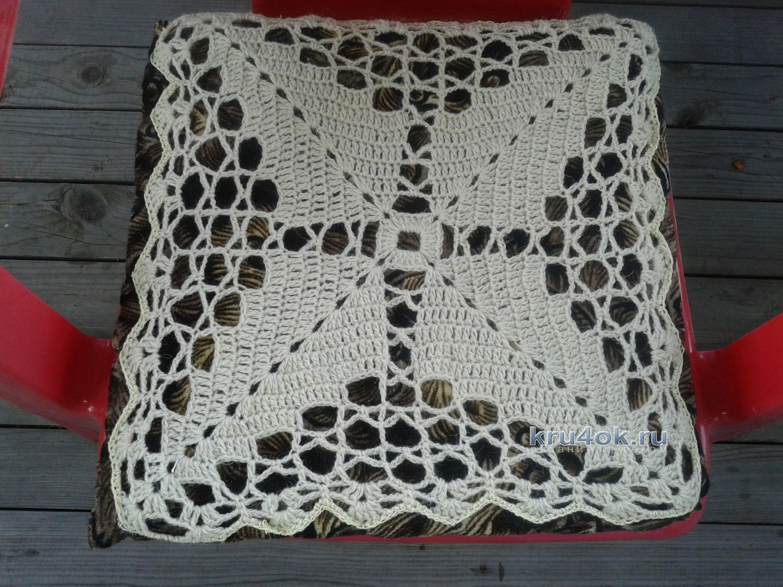 Вязание крючком чехлов табуреток
