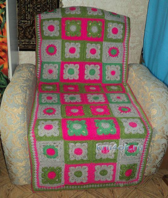Вязанные накидки для кресла