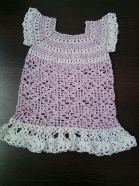 Детское платье крючком - работа Людмилы