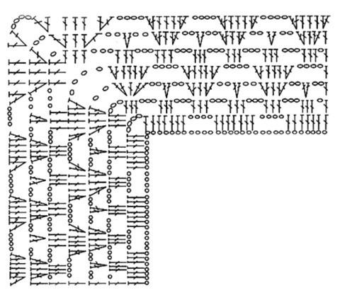 схема вязания кокетки для платья