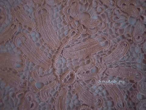 Нарядное платье в технике ирландского кружева
