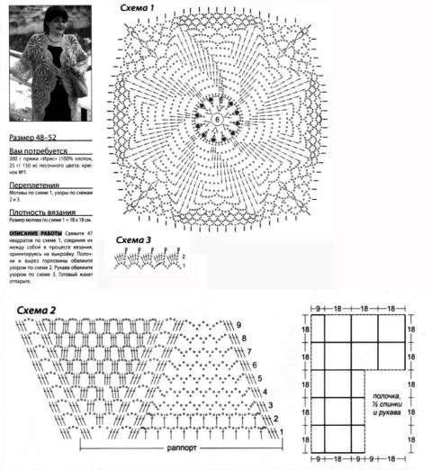 схема вязаняи кардигана