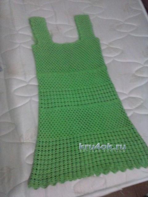 Вязаное платье - работа Оксаны