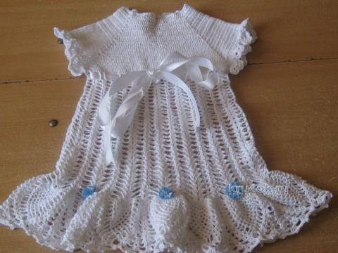 Детские платья крючком - работы Марины Смирновой