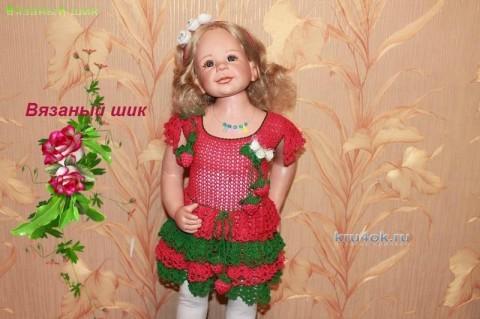 Детское платье Ягодка малинка - работа Ирины