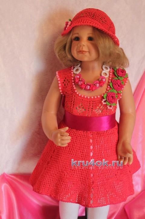 Платье Алая роза - работа Ирины