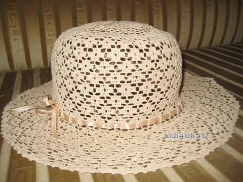 Вязаная крючком шляпа - работа Любови Жучковой