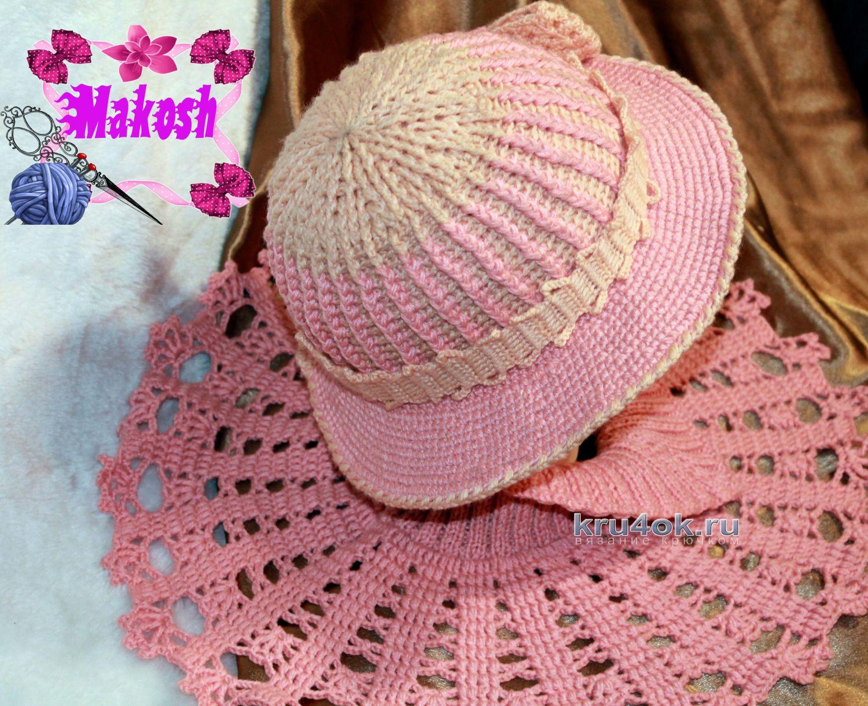 шляпа вязаная теплая крючком схемы