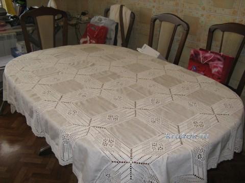 Комбинированная скатерть - работа Васильевой Надежды