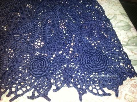 Мини-юбка в технике ирландского кружева