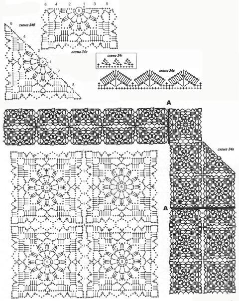 Схемы вязания и выкройка кофточки: