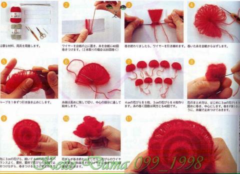схема изготовления розы