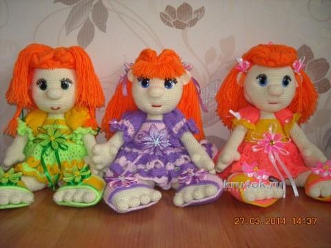 Вязаные крючком куклы - работы Надежды