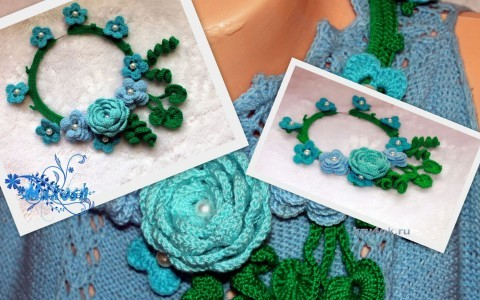 Ожерелье крючком - работа Марины