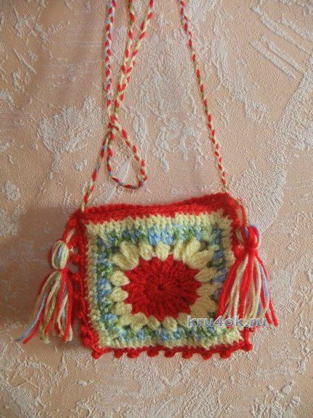 Детская сумочка Квадратик - работа Елены
