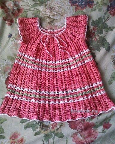 Детское платье крючком - работа Ольги