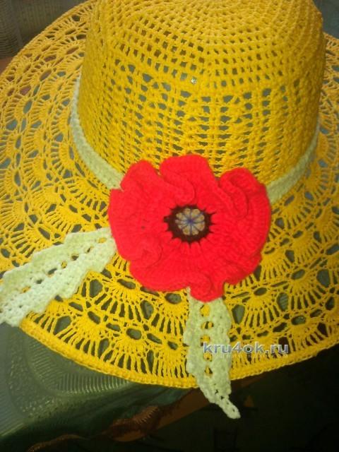 Летняя шляпа крючком - работа Валентины