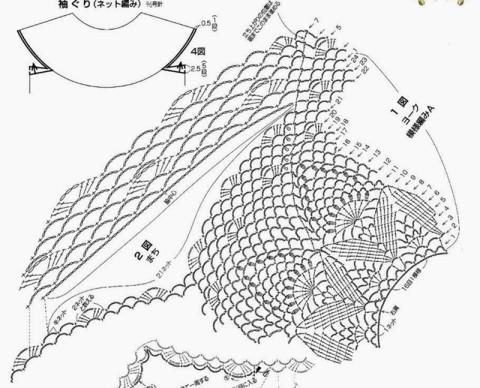 Схемы для вязания платья: