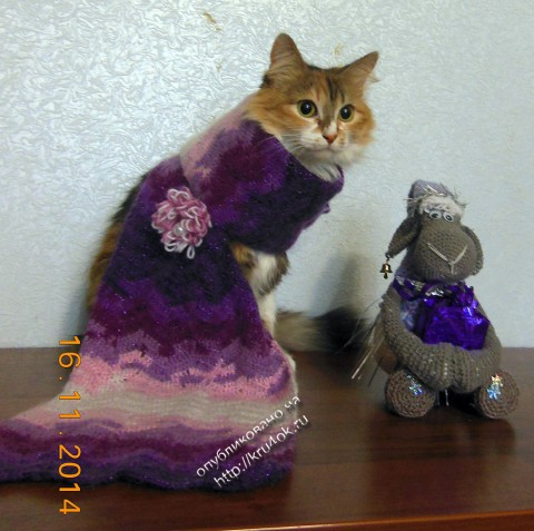 вязаный крючком шарф