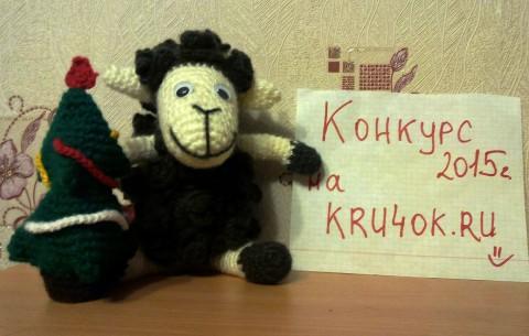 Вязаная игрушка овечка - работа Валиуллиной Алии