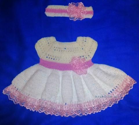 Платье и ободок для девочки - работа Аси