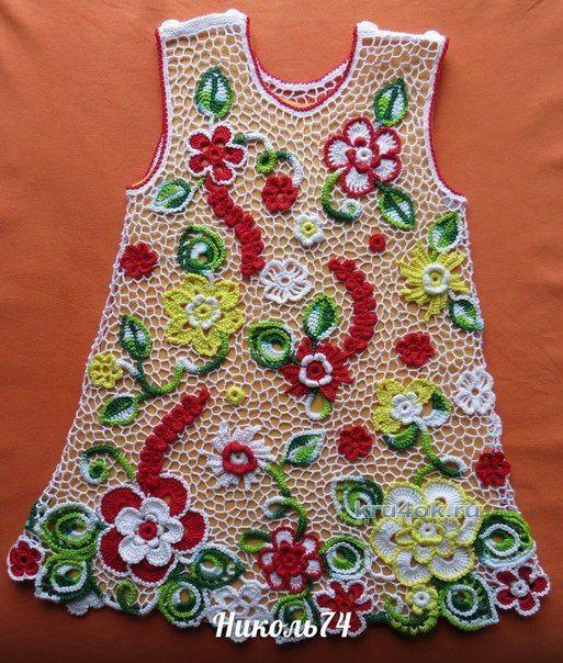 Детское платье в ирландском кружеве