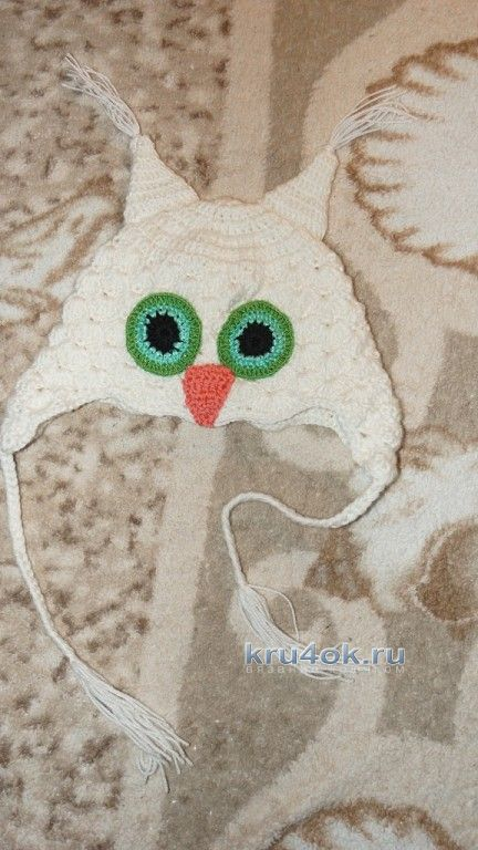 Шапочка сова - работа Виктории Савенко