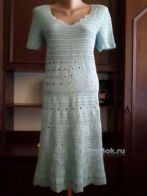 Вязаное крючком платье - работа Павленко Елены