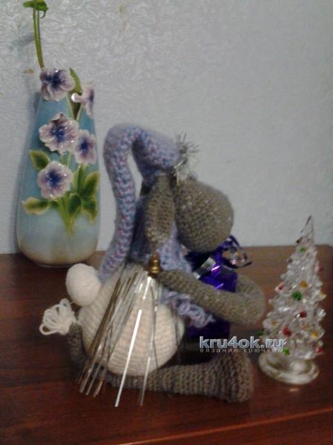 Вязаная крючком овечка - работа Ольги Коноваловой