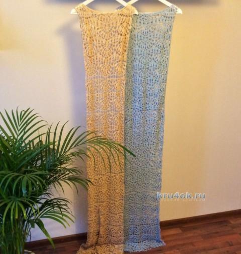 Вязаное крючком платье - работа Алины