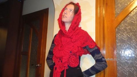 Вязаный шарф - работа Светланы