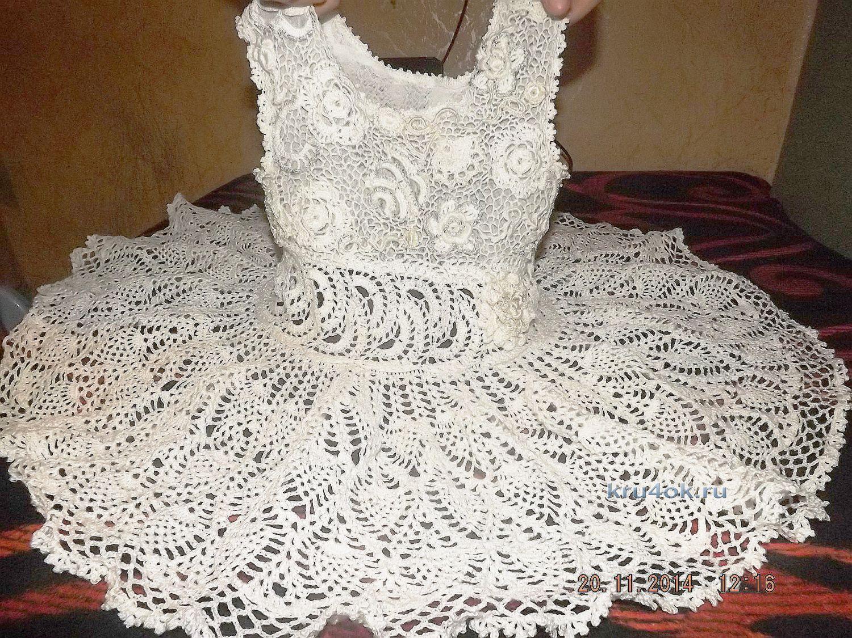 Детское платье крючком работа оксаны