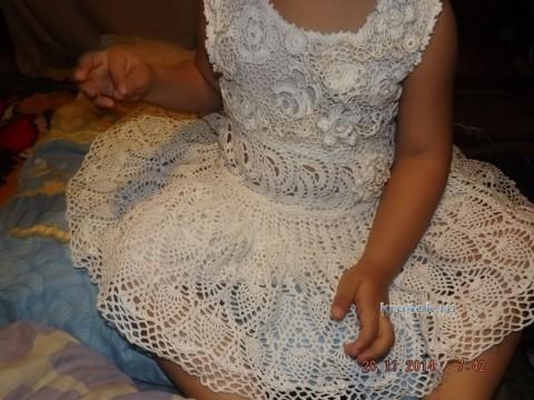 Детское платье крючком - работа Оксаны