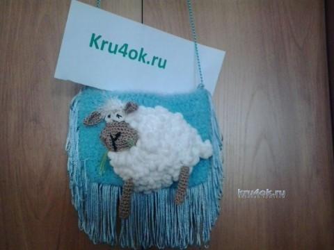 Сумочка Новогодняя овечка - работа Ольги